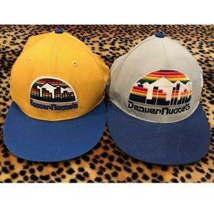 2 Vintage Retro Denver Nuggets Hats NBA